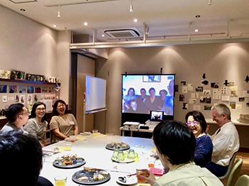 イタリア・ペルージャと横浜・北山田をネットで繋いだ「グローバル交流会」